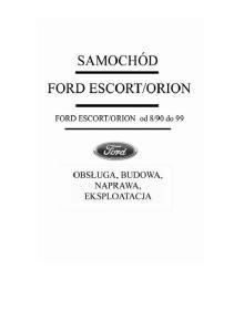 Sam naprawiam - FORD ESCORT ORION 90-99