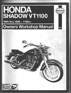 Sam Naprawiam Honda VT1100 1985-1998 [ENG]