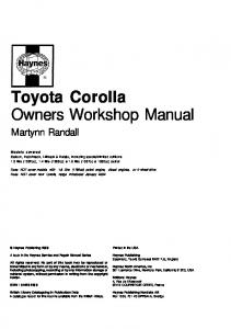 Sam Naprawiam Toyota Corolla E11 [ENG]