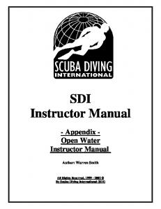 SDI_Open Water Instructor Guide_v3.0