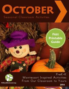 Seasonal Classroom Guide October