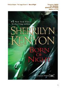 Sherrilyn Kenyon - The League Series 01 - Born of the night