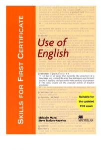 Skills for FCE - Use of English