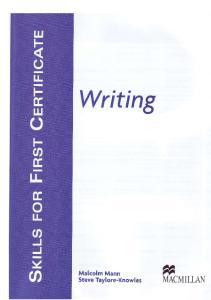 Skills for FCE Writing SB