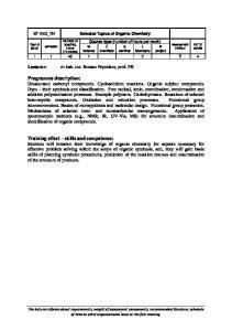 (ST-2_03_EN) Selected Topics of Organic Chemistry