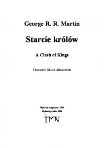 Starcie krolow 2 - George R. R. Martin