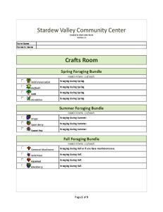 Stardew Valley Community Center Checklist - No Rewards
