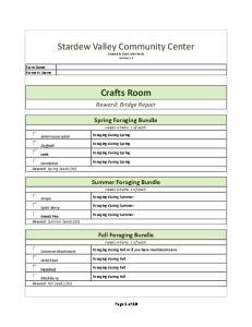 Stardew Valley Community Center Item Checklist No Images