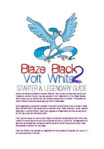 Starter & Legendary Guide