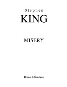 Stephen King -- Misery