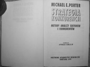 Strategia konkurencji - M. Porter