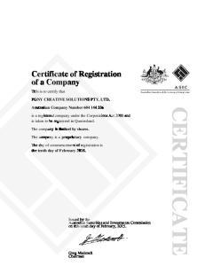 sunghee Na - certificate of registration