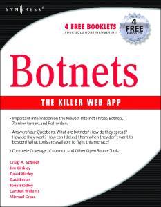 Syngress - Botnets - The Killer Web App