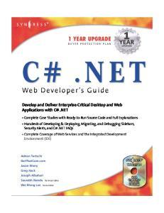 Syngress - C.NET Web Developers Guide