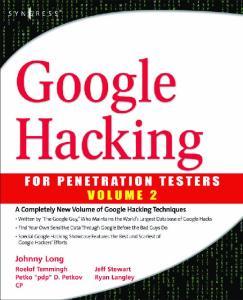 Syngress - Google Hacking for Penetration Tester - Vol.2