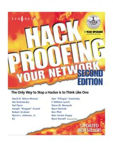 Syngress - Hack Proofing your Network - 2nd Edition