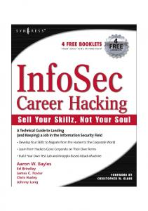 Syngress - InfoSec Career Hacking - Sell your Skillz not your Soul