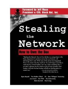 Syngress - Stealing the Network - How to Own the Box