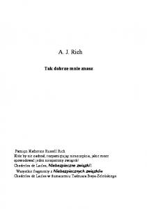 Tak dobrze mnie znasz - A. J. Rich