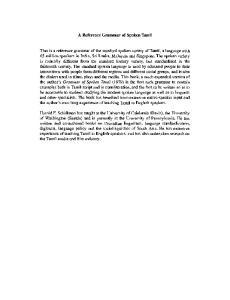 Tamil, A Reference Grammar of Spoken (Schiffman)