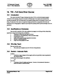 TDI Full Cave Course