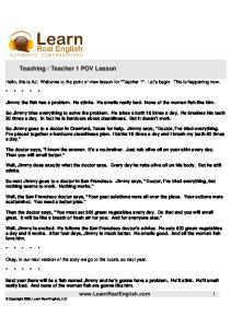 Teaching-Teacher 1 POV