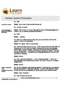 Teaching-Teacher 2 Conversation