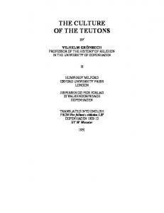 THE CULTURE of the Teutons vol2