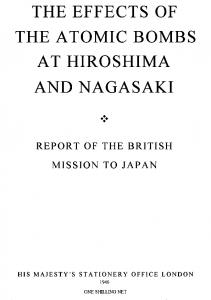 The Effects of the Atomic Bombs at Hiroshima and Nagasaki