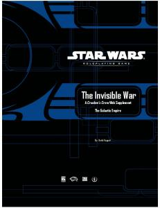 The Invisible War - The Galactic Empire