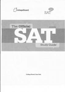 The Official SAT Study Guide 2nd Edition