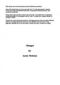 The Vanguards 01 - Annie Nicholas - The Omegas