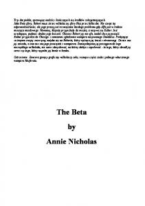 The Vanguards 03 - Nicholas Annie - The Beta