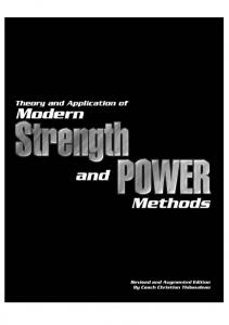 Theory and Application of Modern Strength and Power Methods-Thibaudeau