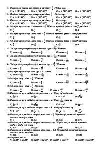 TRYGONOMETRIA TEST