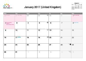 United Kingdom January 2017 - December 2017