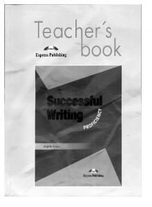 V. Evans -- Successful Writing Proficiency. Teachers Book