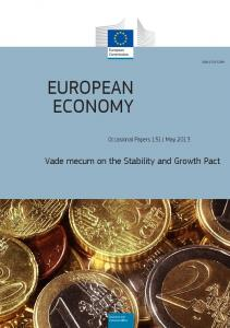 Vademecum on the Stablity and Growth Pact European Economy 2013