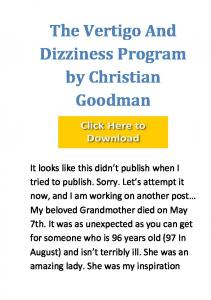 Vertigo & Dizziness Program PDF Book Free Download