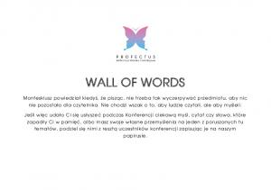WALL OF WORDS - szablon