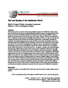 War and Society in the Celtiberian World