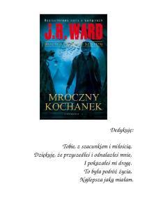Ward J R Bractwo Czarnego Sztyletu 01 Mroczny Kochanek