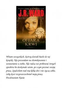 Ward J R Bractwo Czarnego Sztyletu 02 Ofiara krwi