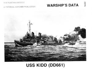 Warships Data 01 - USS Kidd (DD-661)