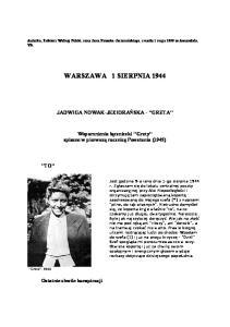 Warszawa 1 sierpnia 44 r