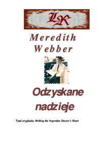 Webber Meredith - Harlequin Medical - Odzyskane nadzieje