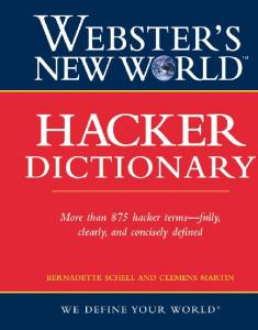 Websters New World Hacker Dictionary