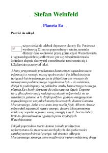 Weinfeld Stefan - Planeta Ea