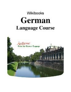 Wikibooks German Language Course