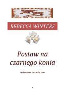 Winters Rebecca - Postaw na czarnego konia